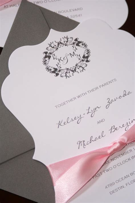 die cut wedding invitations chic shab design studio inc