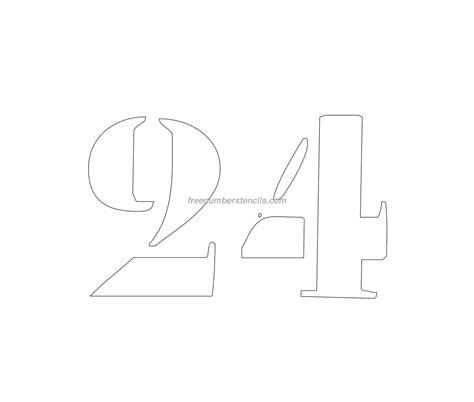 printable curb number stencils free curb painting 24 number stencil freenumberstencils com