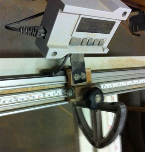 Mounting A Digital Scale On A Sliding Tablesaw