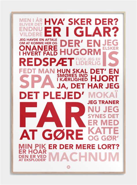 Plakat Citat plakater k 248 b plakater med sjove danske citater