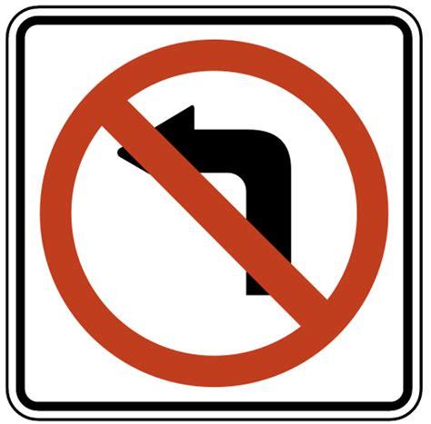 Tiny 2 us road signs no left turn regulatory