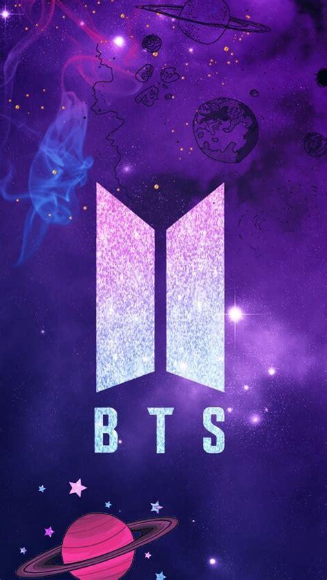 freetoedit remixed bts logo wallpaper galaxy bts