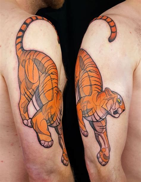 oriental tattoo chicago 66 best tiger tattoos images on pinterest tattoo ideas