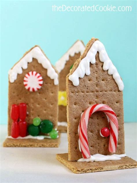 graham cracker house easy graham cracker houses for christmas the decorated cookie