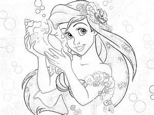 coloring book for adults disney disney princesses coloring pages ariel coloring home
