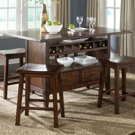 kitchen center island tables center island pub table by liberty furniture wolf and