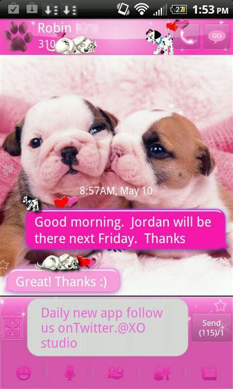 Stelan Pink Puppy 1 pink puppy theme for go sms android apps on play
