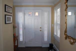 Front Door Window Treatment Plantation Shutters Traditional Entry Boston By Shades In Place