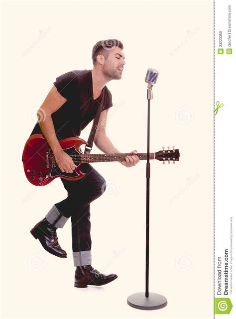 who is the singer playing guitar in the direct tv commercial may 2016 rock star singing with guitar stock photo image 33223350