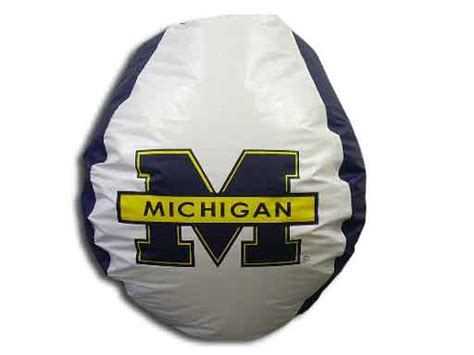 Mi Bean Bag Chair Futon Planet Of Michigan Bean Bag Chair By
