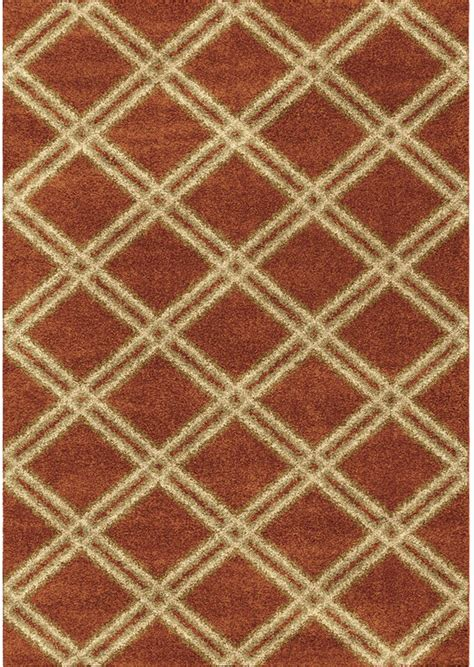 Burnt Orange Area Rug Orian Area Rugs Majestic Shag Rugs 3630 Burnt Orange Geometric Rugs Rugs By Pattern Free