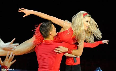 Curtain Call Band Abbey Clancy Shimmies With Aljaz Skorjanec On Strictly