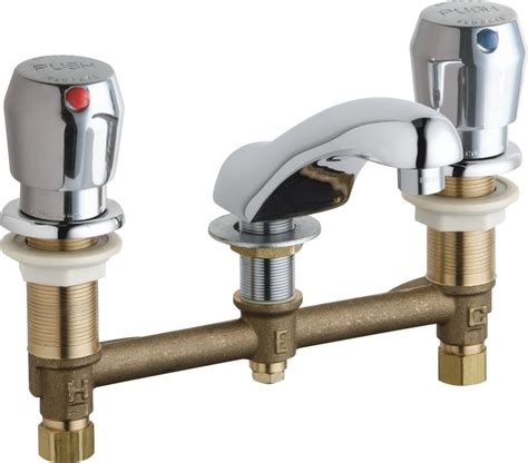 Chicago Push Faucet by Chicago Faucets 404 V665abcp Chrome Widespread Bathroom