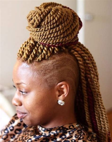 senegalese twist with shaved side mohawk senegalese twists 60 ways to turn heads quickly