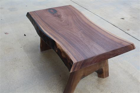 black walnut coffee table with leaf inlay 600