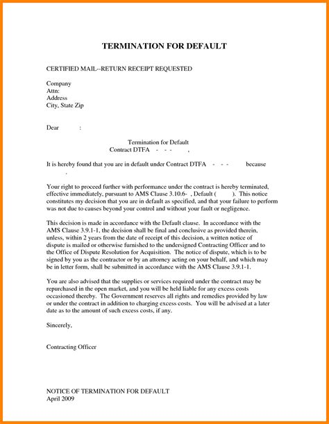Letter Of Termination Of Employment Contract Sle business cancellation letter exles 28 images sle