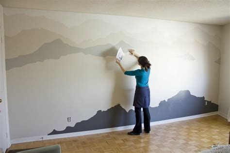 mountain wall murals the quot mountain mural quot bedroom makeover that you can do