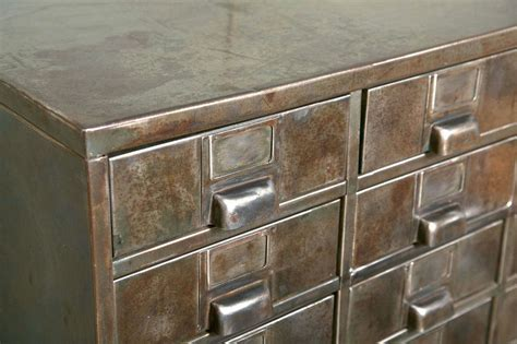 27 Industrial Drawer Metal Cabinet at 1stdibs