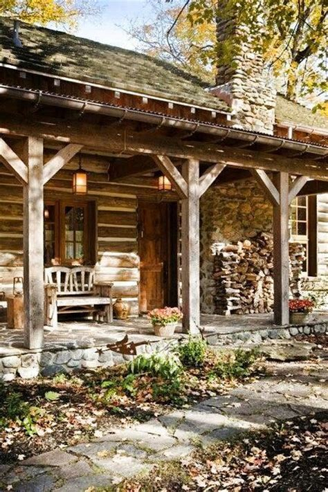 log cabin porch dreams decor pinterest dream home country living feels like home to me