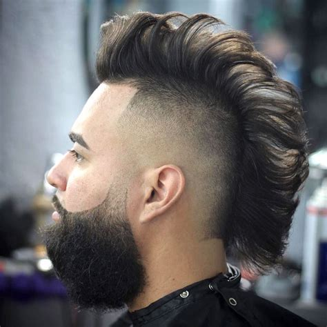 hairstyles for men with horseu hair lines undercut mohawk