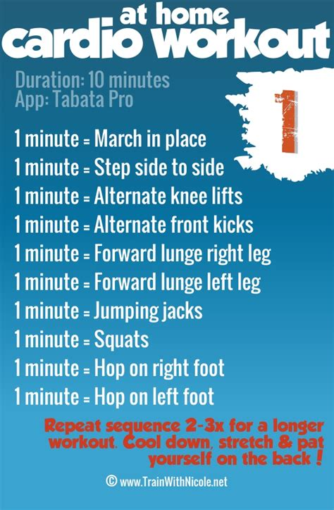 cardio workout plan at home get your body movin with this 10 minute cardio workout