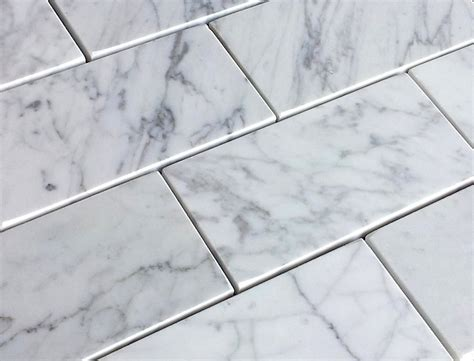 Carrara Marble Floor Tile 7 50sf Carrara Bianco 3x6 Quot Subway Tile Premium Italian Marble Subway Tile The Bianco Carrara