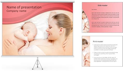 breast feeding powerpoint template amp backgrounds id