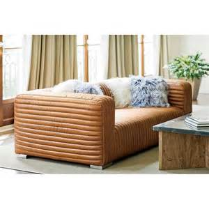 Masculine Sofas stanley rustic masculine cognac brown leather piped sofa