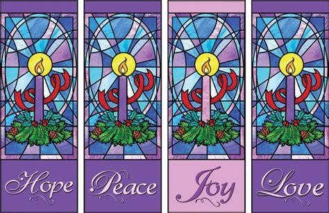 advent themes hope love joy peace quot polyester 23x63 quot h advent x banner set hope peace