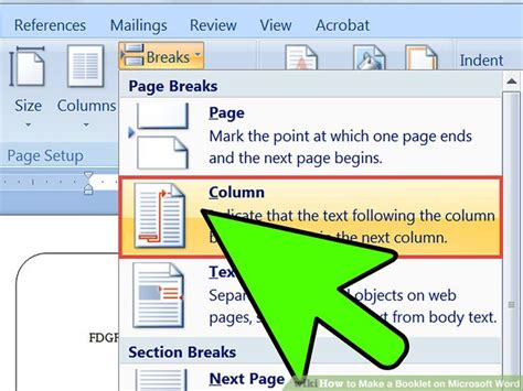 microsoft word page layout like a book 2 easy ways to make a booklet on microsoft word wikihow