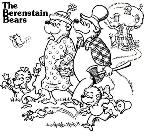 berenstain bear coloring page berenstain bears coloring page coloring home