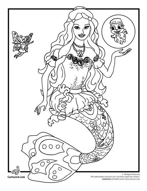barbie coloring pages barbie mermaidia coloring page