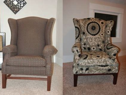 Recover Armchair by How To Reupholster A Wingback Chair Diy Project Aholic