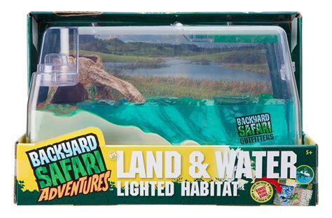 backyard safari land water habitat backyard safari lighted land water habitat toy at