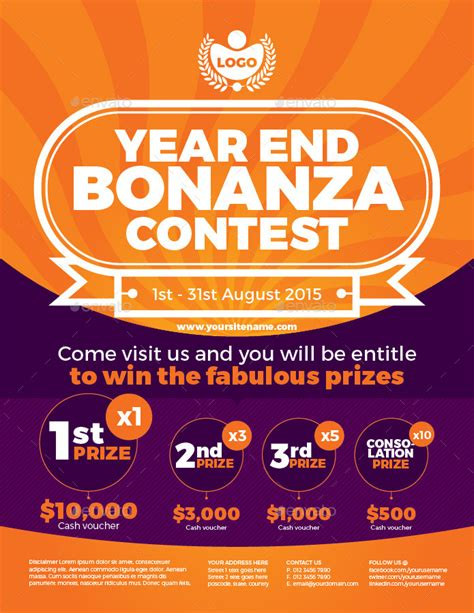 contest flyer template simple contest flyer vol 1 by kitcreativestudio graphicriver