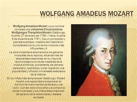 Buena M 250 Sica Artistas V 237 Deos Noticias Discos Conciertos Biografia De Amadeus Mozart Grandes Musicos De La Historia 161 Artistas Ppt Descargar