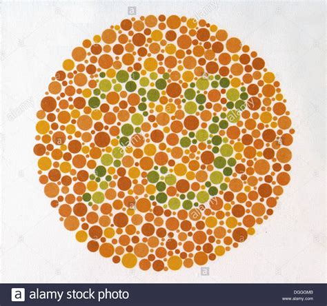 green color blindness test the ishihara color test color perception test for