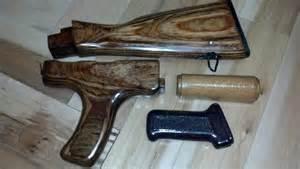 ak 47 rifle wood furniture set 100 refinished and