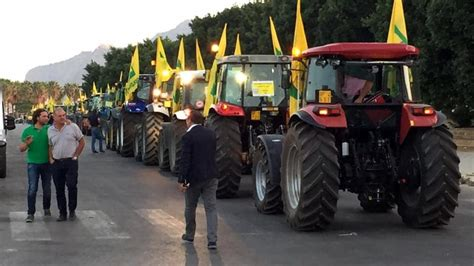 cinzia zerbini coldiretti protestano gli agricoltori coi trattori al