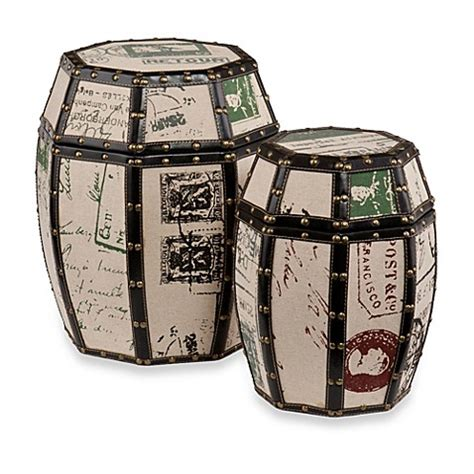 drum set bathroom buy vintage paris postcard 2 piece storage drum set from