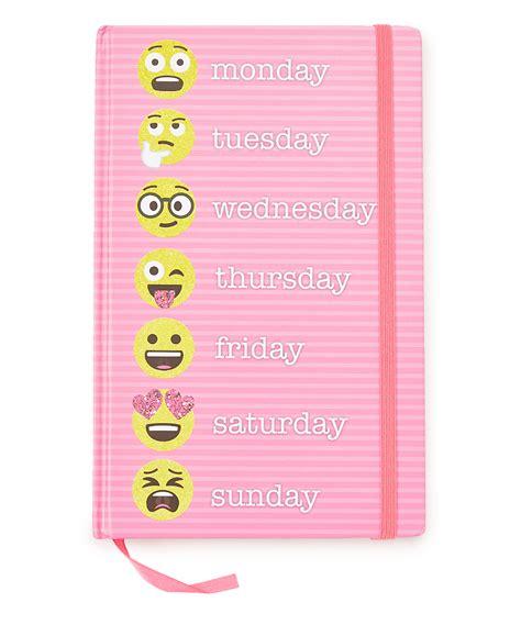 emoji journal innovative designs pink weekday emoji journal zulily