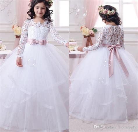 imagenes de vestidos de primera comunion para ninas vestidos de de manga larga vestido de primera comuni 243 n para ni 241 as 2017