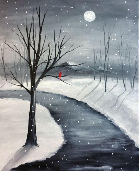 paint nite oakville boston pizza simple winter paintings best painting 2018