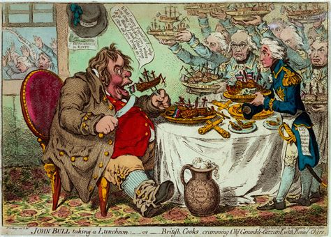 Coulture Country Victorian Times | john bull taking a luncheon or british cooks