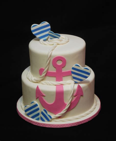 anchor baby shower cake anchors away baby shower cake my cakes
