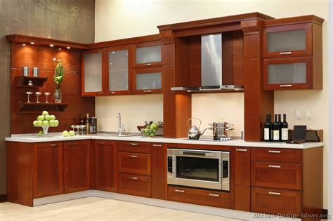 Wooden Kitchen Designs Pictures Of Kitchens Modern Medium Wood Kitchen Cabinets