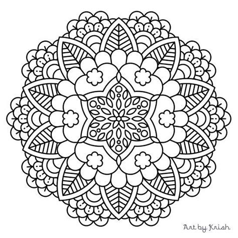 intricate coloring pages pdf 104 printable intricate mandala coloring pages instant