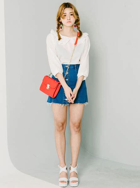 ruffle collar blouse korean fashion