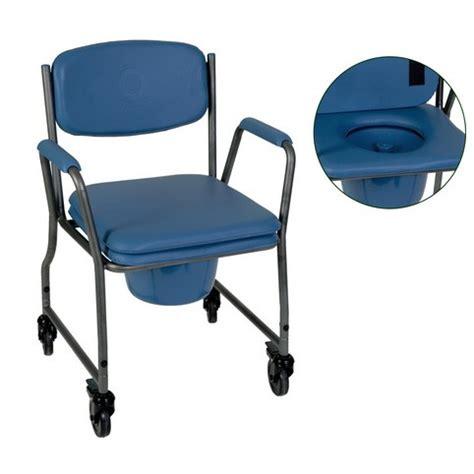 sedia comoda wc sedia comoda wc con ruote e sedile e schienale imbottiti