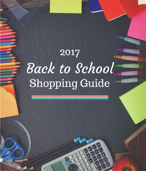 shopping guide 2017 back to school shopping guide and price points for 2017